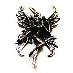 J130 - Sterling Dancing Fairy in Boots Pendant