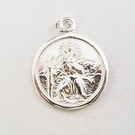 J132 - Sterling St. Christopher Traveler Pendant