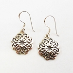 J148 - Sterling Celtic 8 Point Earrings