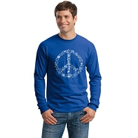 TLS003 - Coexist Peace Symbol Interfaith Long Sleeve T-shirt