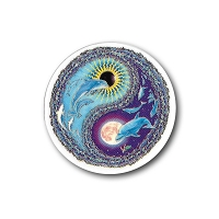 MA31 - Dolphin Yin/Yang Mini Art Decal Window Sticker