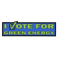 MS112 - I Vote Green Mini Sticker