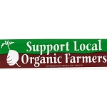 MS123 - Support Local Organic Farmers mini bumper sticker