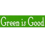 MS124 - Green is Good Eco Mini Sticker