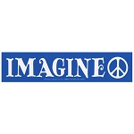 MS160 - Imagine Peace John Lennon Mini Sticker