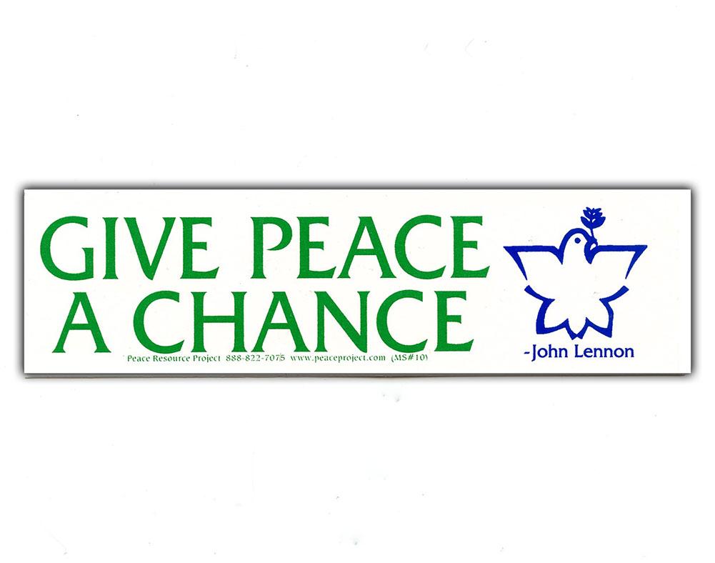 Ms169 Give Peace A Chance Mini Sticker