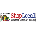CM006 - Fix the Economy: Shop Local Full Color Mini Sticker