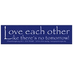 MS180 - Love Each Other Mini Bumper Sticker