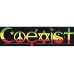 CM003 - Rasta Coexist Interfaith Full Color Mini Sticker