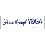 MS184 - Peace Through Yoga Mini Bumper Sticker