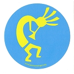 MS189 - Kokopelli Native American Fertility God Single Symbol Mini Sticker