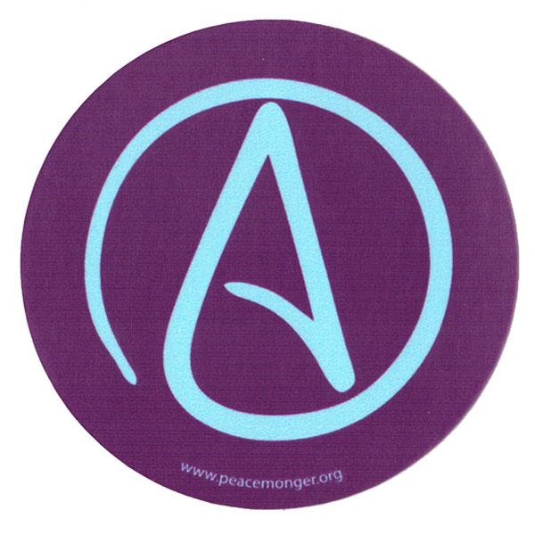 Atheist Universal A Single Symbol Mini Sticker