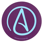 MS190 - Atheist Universal A Single Symbol Mini Sticker