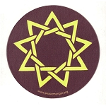 MS191 - Nine Point Star Baha'i Single Symbol Mini Sticker