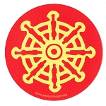 MS192 - Buddhist Prayer Wheel Single Symbol Mini Sticker