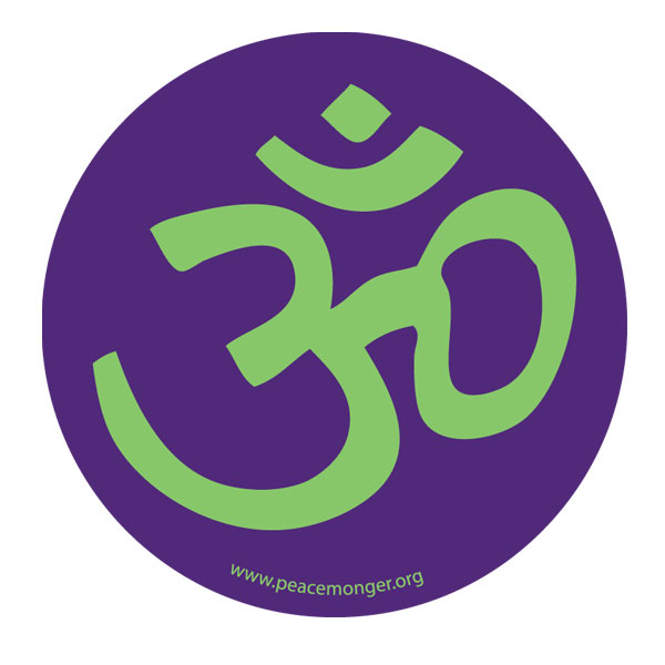 Aum Om Hindu Symbol Mini Sticker