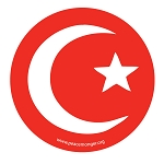 MS195 - Islam Crescent Moon and Star Single Symbol Mini Sticker