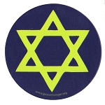 MS196 - Star of David 6 Point Star Judaism Single Symbol Mini Sticker
