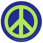 MS197 - Peace Sign Universal Peace Symbol Single Symbol Mini Sticker