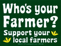 MS222 - Who's your Farmer Mini Bumper Sticker