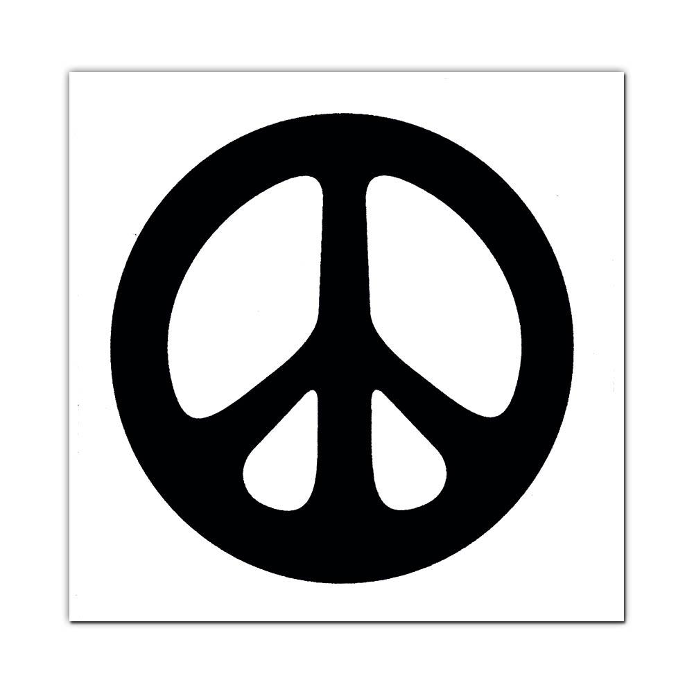 Ms23 Peace Symbol White Mini Sticker