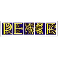 MS239 - Antique Peace Mini Sticker