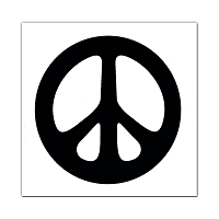MS23 - Peace Symbol (White) Mini Sticker