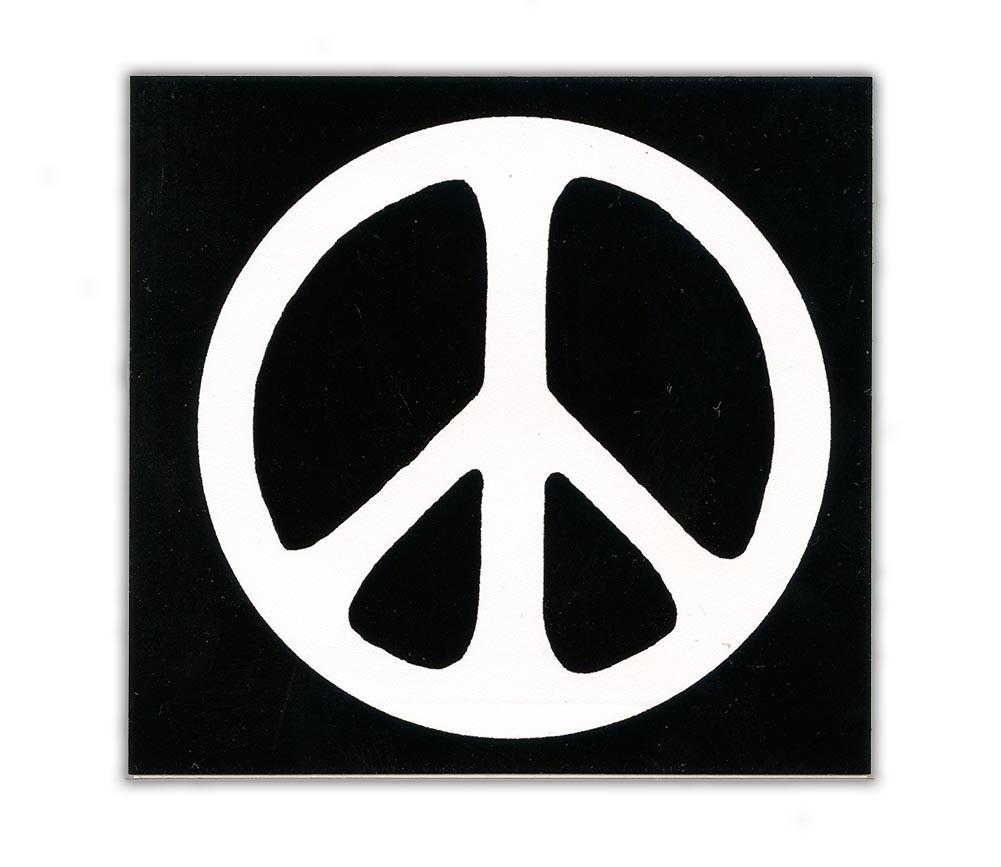 Ms24 Peace Symbol Black Mini Sticker