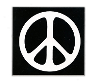 MS24 - Peace Symbol (Black) Mini Sticker