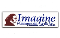 MS54 - Imagine Nothing to Die For Mini Sticker