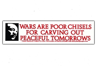 MS58 - Wars are Poor Chisels Mini Sticker