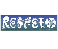 CM071 - RESPETO Sea Life Mini Bumper Sticker