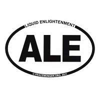 OS002 - Liquid Enlightenment: ALE Oval Bumper Sticker