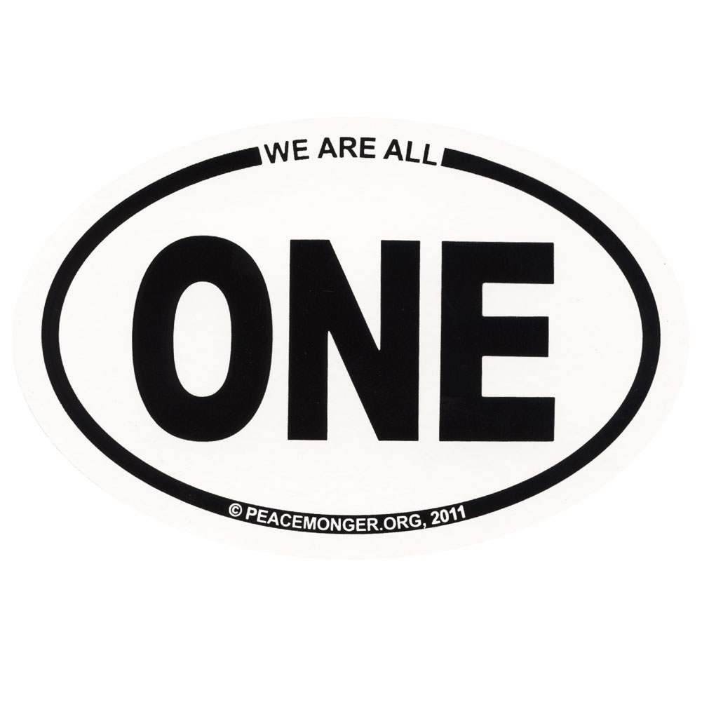 we are all one oval bumper sticker