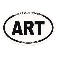 OM004 - Make Peace Through ART Mini Oval ID Sticker