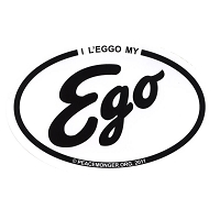 OS005 - I L'eggo My EGO Oval Bumper Sticker