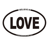 OM006 - I Believe in LOVE Mini Oval ID Sticker