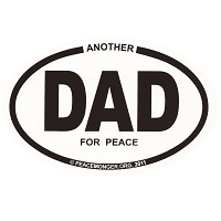 OM011 - Another DAD For Peace Mini Oval ID Sticker