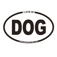 OM014 - I Love My DOG Mini Oval ID Sticker
