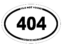 OM042 - 404 Mini Oval ID Bumper Sticker