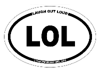 OM043 - LOL Mini Oval ID Bumper Sticker