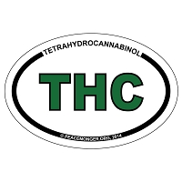OS420 - THC Oval ID Bumper Sticker