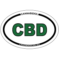 OS421 - CBD Oval ID Bumper Sticker