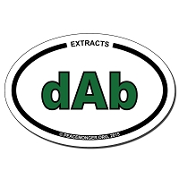 OS422 - DAB Oval ID Bumper Sticker