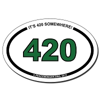 OS423 - 420 Oval ID Bumper Sticker