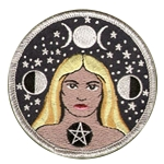 P101 - Star Goddess Embroidered Patch
