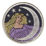 P102 - Moon Goddess Embroidered Patch