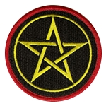 P103 - Classic Pentacle Embroidered Patch