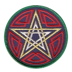 P104 - Celtic Pentacle Embroidered Patch