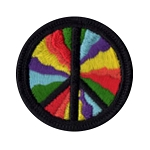 P106 - Psychedelic Peace Embroidered Patch